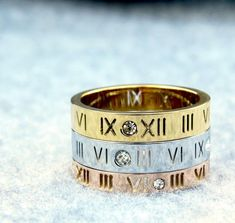 Ring Ring, Roman Numeral I, Or Rose, Rose Gold, Silver Infinity Ring, Ring Cuts, Nerd, Friendship Rings, Stainless Steel Rings