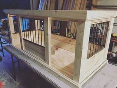 Our love for design and dogs transformed into creating beautifully handcrafted indoor dog crates. Our quality construction, endless design options, and attention to detail cannot be matched in the marketplace today. At Kennel & Crate, we craft beautiful d Cheap Dog Kennels, Luxury Dog Kennels, Dog Kennel Cover, Diy Dog Kennel, Dog Kennel Designs, Diy Dog Crate, Dog Crate Furniture, Dog Cages, Niches