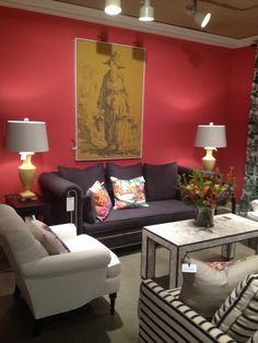 High Point Market Spring 2012-C.R. Laine's homage to my Hampton's Showhouse 2011...thanks, I'm flattered!