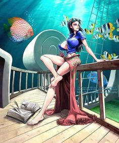 Nico Robin , Straw Hat Pirates , One Piece Nami One Piece, One Piece Anime, One Piece Fanart, Anime One, Nico Robin, Female Characters, Anime Characters, One Piece Drawing, Animes Wallpapers