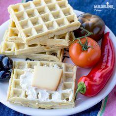Gaufre cu branza si marar / Cheese & dill waffles