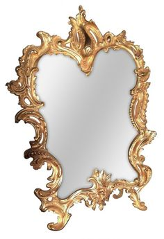 19th C. French Dore Bronze Vanity Mirror : Lot 280