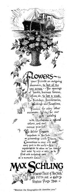 Florist ad, 1925