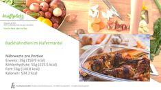 Was für eine geniale Idee... Backhähnchen im Hafermantel 😋 Würde sicherlich auch auf dem Grill eine gute Falle machen😉 Grill, Beef, Food, Food Portions, Bakken, Recipies, Meat, Essen, Meals