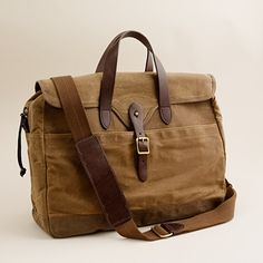 Abingdon laptop bag - J.Crew.  A vintage look for carrying all your tech gear.