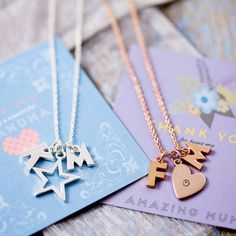 design your own chunky letter necklace by j&s jewellery   notonthehighstreet.com