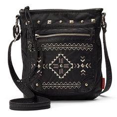 Unionbay Aztec Pyramid Studded Crossbody Bag