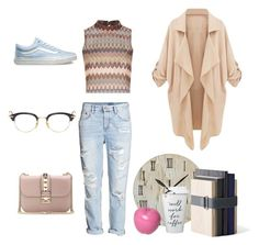 """Cozy,casual & Chic"" by tania-mrqz on Polyvore featuring Glamorous, H&M, Vans, Menu, Valentino, Thom Browne, Bitossi, women's clothing, women's fashion and women"
