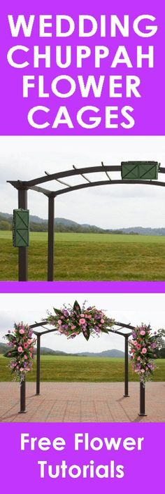 Wedding Flower Arch - Easy Step by Step Flower Tutorials Learn how to make bridal bouquets, wedding corsages, church decorations pew ends and reception centerpieces. Wedding Chuppah, Wedding Arch Flowers, Church Flowers, Wedding Ceremonies, Wedding Venues, Arco Floral, Church Wedding Decorations, Flower Tutorial, Flower Arrangements