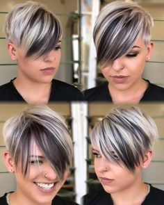 Pixie with Long Bangs for a Round Face You are in the right place about long pixie hairstyles messy Choppy Haircuts, Round Face Haircuts, Short Pixie Haircuts, Hairstyles For Round Faces, Pixie Hairstyles, Trendy Hairstyles, Pixie Long Bangs, Fashion Hairstyles, Hairstyles 2018