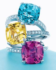 Tiffany gemstone rings