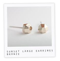 SUNSET ROCKS LARGE EARRINGS – BRONZE  $50.00