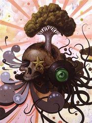 Jeff Soto Wild Growth Original Painting  Pop Surrealism