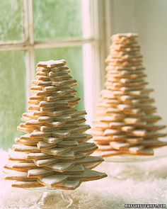 Simple Sugar Cookies to display at a holiday dessert table
