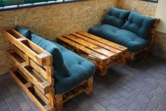 39 Ideas For Diy Furniture Couch Homemade Coffee Tables Recycled Pallet Furniture, Pallet Garden Furniture, Wooden Pallet Projects, Diy Furniture Couch, Wooden Furniture, Outdoor Furniture Sets, Furniture Design, Furniture Ideas, Pallet Ideas