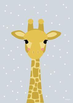NEU! Frühjahr 2016 - Papeterie Scrapbooking Image, Baby Posters, Baby Art, Cute Illustration, Giraffe Illustration, Baby Decor, Nursery Wall Art, Cute Drawings, Cute Wallpapers