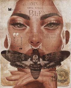 Art Sketches, Art Drawings, Drawn Art, Hippie Art, Surreal Art, Portrait Art, Aesthetic Art, Collage Art, Art Inspo