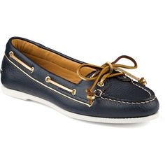 I love Sperrys, especially this Sperry Top-Sider Women's Gold Cup Audrey Slip-On Boat Shoe. Navy Blue Shoes, Blue Flats, Sperry Boat Shoes, Gold Cup, Navy Gold, Sperry Top Sider, Over The Knee Boots, Slip On Shoes, Sperrys