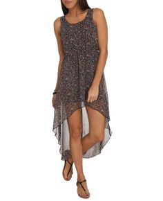 Amazon.com: Wet Seal Womens Floral High-low Chiffon Dress: Clothing