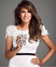 I thing Melania looks much prettier with her hair to one side instead of a middle parting.