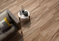 Beautiful wood look floor tiles / Living room floor design / Elegant living room design / Luxury interiors / Cosy house Wood Effect Porcelain Tiles, Flooring, Natural Tile, Tiles, Living Room Tiles, Elegant Living Room Design, Wood Effect Tiles, Cosy House, Wood Look Tile