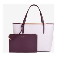 Colour block leather shopper bag ($205) ❤ liked on Polyvore featuring bags, handbags, tote bags, genuine leather tote bag, ted baker tote bag, shopping tote bags, color block leather tote and leather shopper tote bag