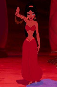 jasmin, Disney princess, red dress