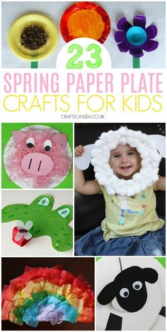 Spring paper plate crafts for kids preschool toddlers. Crafts To Make And Sell Unique, Crafts For Kids To Make, Easter Crafts For Kids, Preschool Crafts, Fun Crafts, Paper Crafts, Easy Paper Flowers, Giant Paper Flowers, Spring Crafts