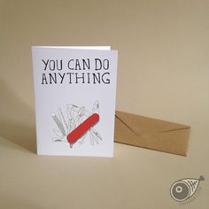 KNIFE. Tool . Father's Day . Greeting Card . Kraft by TAYHAMS