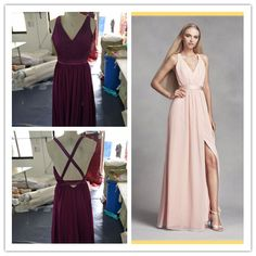 Criss Cross Back Chiffon Dresses