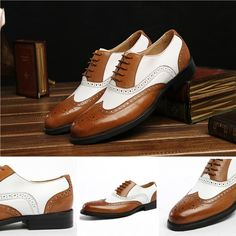 Shoes - Business genuine leather shoes - Brown pointed toe @runit365#trendy #jazzy #oxfordshoes
