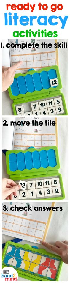 The perfect kit for practicing literacy skills in the classroom or at home!  Kids choose a skill to practice and use the tiles to complete their answers in the workbook, then immediately self check their answers.  Teachers can use this kit during language arts block in small groups, guided reading, literacy stations, and daily 5 rotations.  There are 64 activities and reading passages.  Perfect if you're looking for center ideas! This versatile kit is a fun learning resource for elementary… Literacy Stations, Literacy Skills, Literacy Centers, Spelling Activities, Literacy Activities, Daily 5 Rotation, Sentence Building, Making Words, Reading Passages