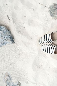 Espadrilles in the sand