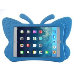 For+iPad+Mini+1/2/3+Blue+Butterfly+EVA+Protective+Case+with+Holder
