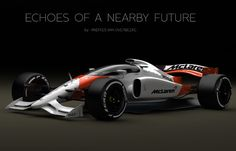 McLaren-Honda Formula 1 amazing concept, created to visualize what cars could look like with a closed cockpit. Images credit Andries van Overbeeke The… Formula 1, Auto F1, F1 2017, Gilles Villeneuve, Mclaren F1, F1 Racing, Drag Racing, Indy Cars, First Car
