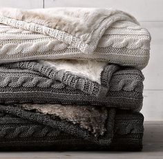 I discovered this Cable Knit & Luxe Faux Fur Stroller Blanket on Keep. View it now.