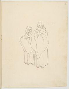 FLORENCE, Hercule - Sem título [Desenho do Carnet de dessins] - 1825 - Grafite sobre papel - 24,7 x 19,3 cm - Coleção Bibliothèque Nationale de France (Paris)