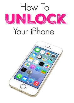 Wow - I didn't know you could do this, take any iPhone to any carrier you want! Spring, Verison, AT&T and more! Unlock your iPhone!