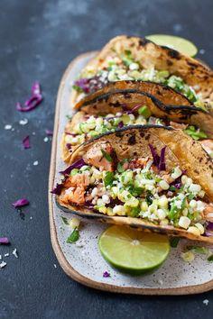 Avocado Recipes, Salmon Recipes, Seafood Recipes, Mexican Food Recipes, Healthy Recipes, Lime Fish Recipes, Tilapia Recipes, Corn Recipes, Orange Recipes