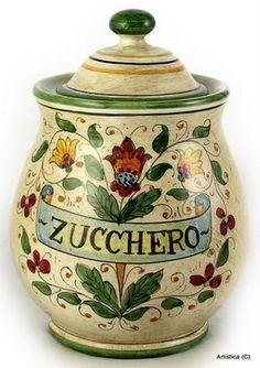 MAJOLICA: Round canister Zucchero [#1461-MAJ] by MAJOLICA Collection, http://www.amazon.com/gp/product/B002ZPU4T0?ie=UTF8=213733=393177=B002ZPU4T0=shr=abacusonlines-20=1361514480=8-103=majolica+pottery via @amazon