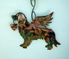 SALE Golden Retriever Pet Memorial Outdoor Hanger, Copper Metal Garden Yard Art, Wall Hanger, Outdoor Sculpture, Angel Dog, Pet Lover Gift