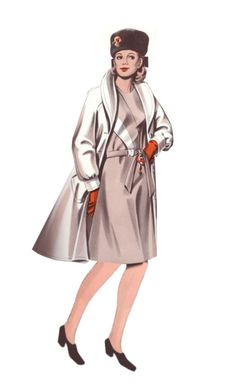 1970s fashion looks | 1970s fashion history - Design of Womens Coat 1974 Pictures