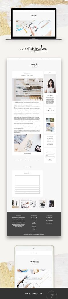 Soft, minimal blog by Amanda Raines running on Station Seven's WordPress theme, Kindred.