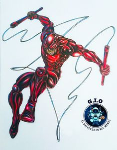 Mi version propia hecha a mano! Espero les guste! Daredevil, My Drawings, Cool Designs, Superhero, Website, Cool Stuff, Link, Handmade, Products