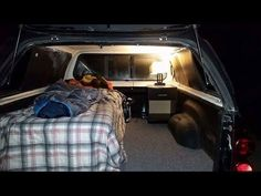 Boondocking -  Home Made Truck Canopy Camper Setup, Camping In Winter -10 Degrees - YouTube