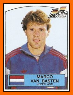 Marco van Basten with the Netherlands, Euro World Football, Football Stadiums, Sport Football, Football Fans, Marco Van Basten, Football Awards, Association Football, Player Card, Football Stickers