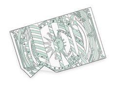 Astrologie Nouvelle Hermes printed bath towel in mandarin/brownish-grey cotton #PowderRoom #Inspiration #Hermes