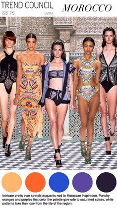 Women's: Spring Summer 2015 swimwear -Trend Council