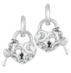 Belle Étoile Key to My Heart White Earring