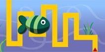 Juegos de laberintos online gratis para niños: el pez